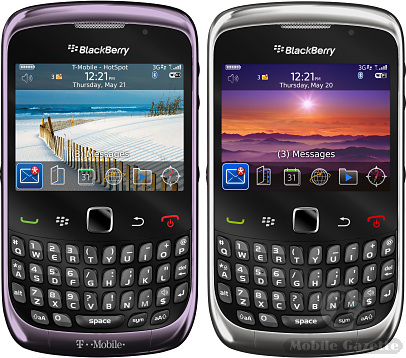 Blackberry Curve 9300 Available Colours