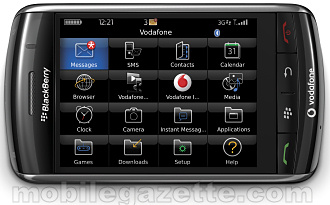 BlackBerry Storm 9500 in lansdcape mode