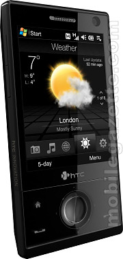 HTC Touch Diamond showing weather forecast