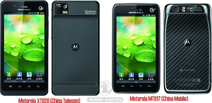 Motorola XT928 and MT917