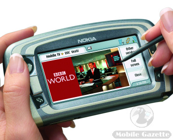 Nokia 7710 with mobile TV