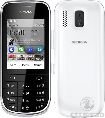 ��������� ������ �  Nokia Asha 202
