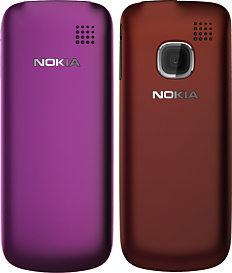 Nokia C1-01 and C1-02 (back)
