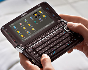 Nokia E90 Communicator in use