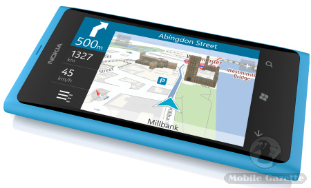 Nokia Lumia 800 with Nokia Drive