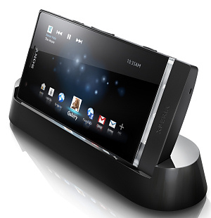 Sony Xperia P in docking station