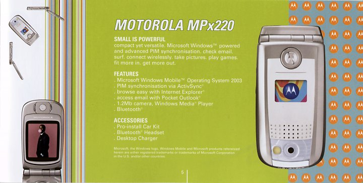 Motorola MPx220 Promotional Material
