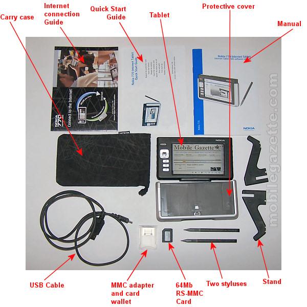 Nokia 770 Box Contents