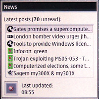 Nokia 770 RSS Feed