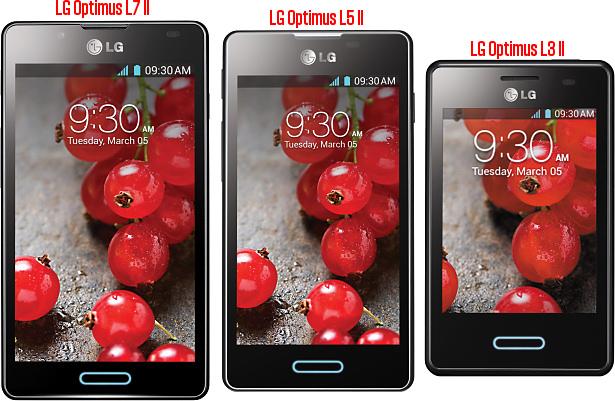 LG Optimus L3 II, L5 II and L7 II