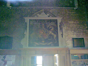 Poor quality picture of the seal in Elstow Abbey Church
