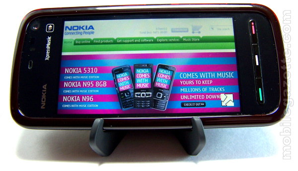 Nokia 5800 XpressMusic Web browser