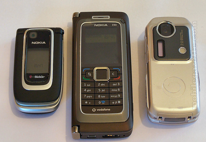 Nokia E90, Nokia 6131 and Sharp 902
