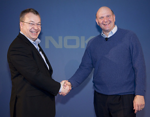Stephen Elop, CEO of Nokia and Steve Ballmer, CEO of Microsoft