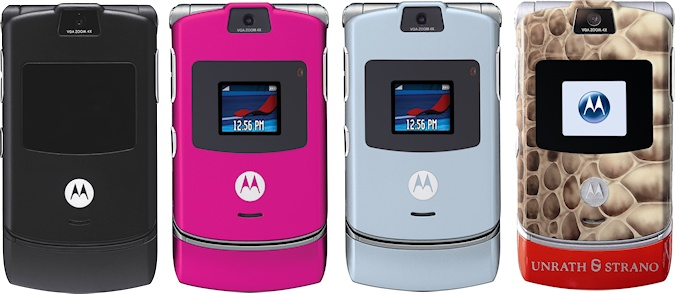 Motorola RAZR V3 Colours