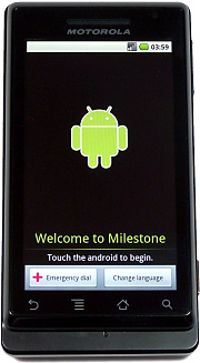 Motorola Milestone Welcome Screen