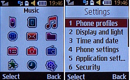Samsung B2100 User Interface